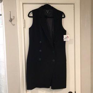 Tuxedo Dress - Ellen Tracy sleeveless black dress